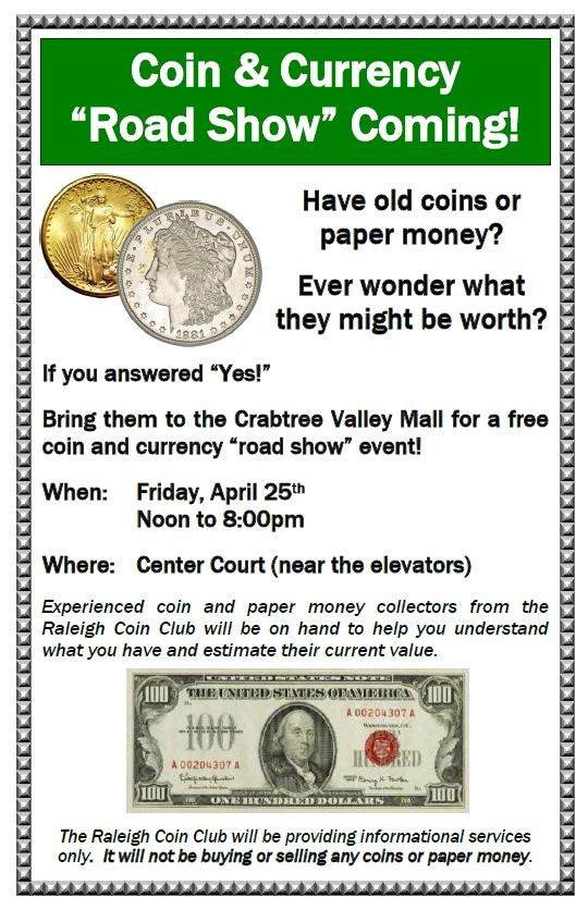 Raleigh Coin Club - News