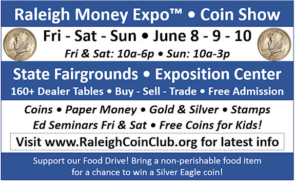 Raleigh Coin Club - 2018 Raleigh Money Expo Archives - Publicity